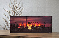 Lighted Stand at the Rodeo Canvas Art