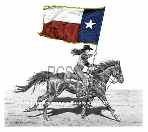 """Lone Star"" Limited Edition Print 17"" x 17"""