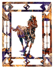 "Load image into Gallery viewer, (LZESCP20W) ""Escape"" Running Horse Laser-Cut Metal Wall Art"