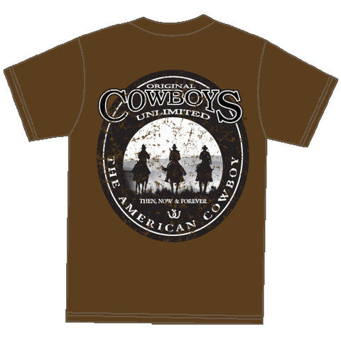 "(MBCB1543) ""Three Riders"" Cowboys Unlimited T-Shirt"