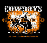 "(MBCB1601) ""Cowboy Till the End"" Western Adult T-Shirt"