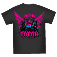"(MBCG1164) ""Cowgirl Tough"" Cowgirls Unlimited T-Shirt"