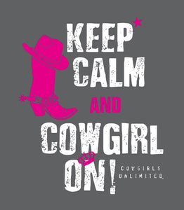 "(MBCG1171) ""Cowgirl On' Cowgirls Unlimited T-Shirt"