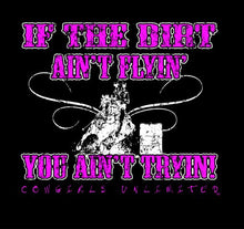"Load image into Gallery viewer, (MBCG1179) ""Flyin' Dirt"" Cowgirls Unlimited T-Shirt"