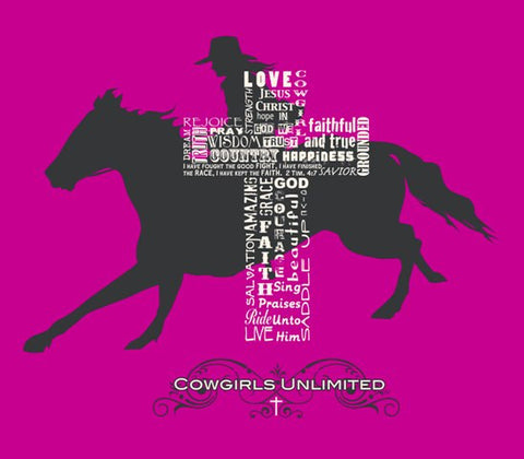 (MBCH1867) Cowgirl Cross Faith Adult  T-Shirt
