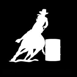 "(MBDV8156) ""Barrel Racer 5"" High Performance Vinyl Decal"
