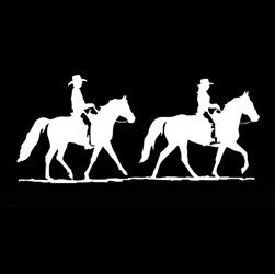 "(MBDV8176) ""Gone Riding - 2 Gaited"" High Performance Vinyl Decal"