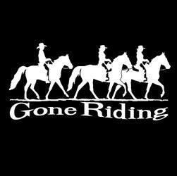 "(MBDV8178) ""Gone Riding - 3 Gaited"" High Performance Vinyl Decal"
