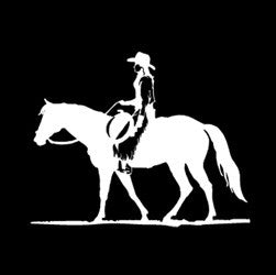 "(MBDV8188) ""Cowgirl - Quarter Horse"" High Performance Vinyl Decal"