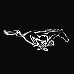 "(MBDV8206) ""Horse Power High Performance Vinyl Decal"
