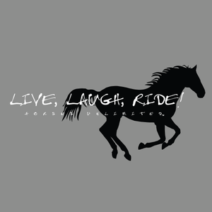 "(MBHD7574SG)  ""Laugh, Ride"" Western Hoodie - Sport Gray"