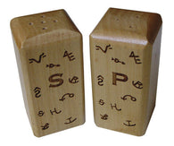 (MBHW34XX) Western Wooden Salt & Pepper Shakers with Multiple Engraving Options