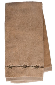 "(MBHW7109) ""Barbwire"" Western Kitchen/Hand Towel"