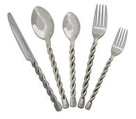 "(MBHW9715) ""Twisted Rope"" Western 20-Pc Silverware Set"