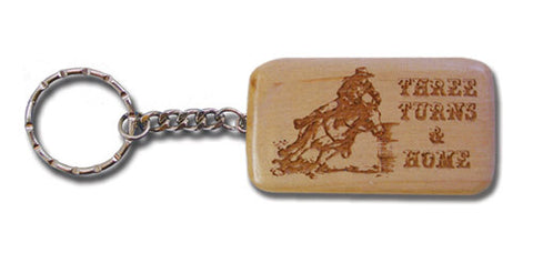 "(MBKC5036) ""Three Turns and Home"" Wooden Key Chain"