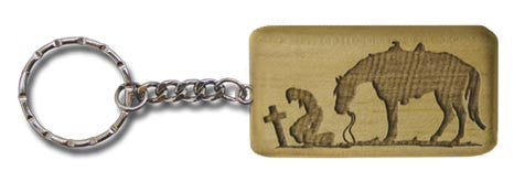 "(MBKC5065) ""Praying Cowboy"" Western Key Chain"