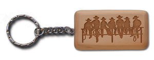 "(MBKC5067) ""Fence Sitters"" Wooden Key Chain"
