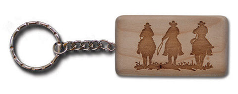 "(MBKC5070) ""3 Riders"" Wooden Key Chain"