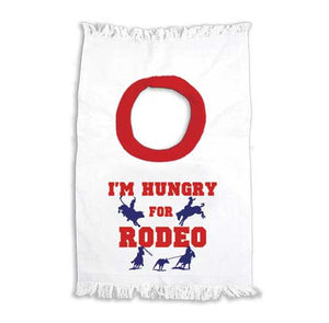 "(MBKDS2058) ""I'm Hungry for Rodeo"" Baby Bib"