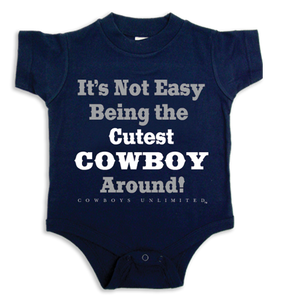 "(MBKDS2084C) ""Cutest Cowboy Around"" Western Creeper/Onsie"
