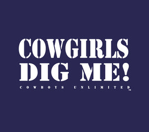 "(MBKDS2092) ""Cowgirls Dig Me"" Western Kids T-Shirt"