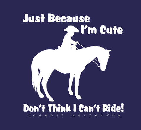 "(MBKDS2110) ""Can't Ride"" Western Kids T-Shirt"