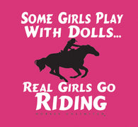 "(MBKDS2112) ""Real Girls Go Riding"" Western Kids T-Shirt"