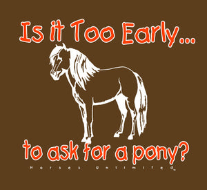 "(MBKDS2116) ""Ask For a Pony"" Western Kids T-Shirt"