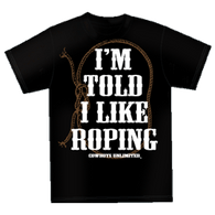 "(MBKDS2125) ""I'm Told I Like Roping"" Western Kids T-Shirt"