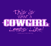 "(MBKDS2142) ""Cowgirl Looks Like"" Western Kid's T-Shirt"