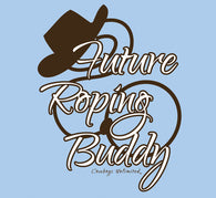 "(MBKDS2143) ""Roping Buddy"" Western Kid's T-Shirt"