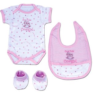"(MBKDS2906) ""One Cute Cowgirl"" Baby Set"