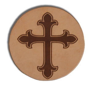 "(MBLC4064) ""Cross"" Leather Coaster Set (Set of 4)"