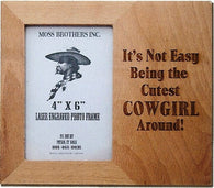 "(MBLF2083) ""Around Cowgirl"" Laser Engraved Western Picture Frame"