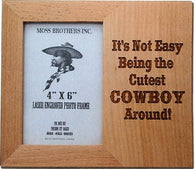 "(MBLF2084) ""Around Cowboy"" Laser Engraved Western Picture Frame"