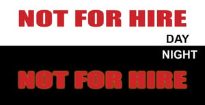 "(MBRR8116) ""Not For Hire"" 15in Strip Reflective Trailer Decal"