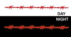 "(MBRR8455) ""Barbwire"" 15in Strip Reflective Trailer Decal"