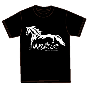 "(MBUH7566) ""Junkie"" Horses Unlimited T-Shirt"