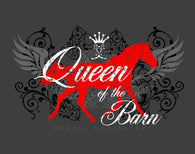 "(MBUH7615) ""Queen of Barn"" Horses Unlimited T-Shirt"