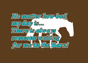 "(MBUH7619) ""Waiting"" Horses Unlimited T-Shirt"