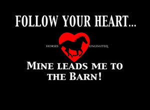 "(MBUH7620) ""Follow Your Heart"" Horses Unlimited T-Shirt"