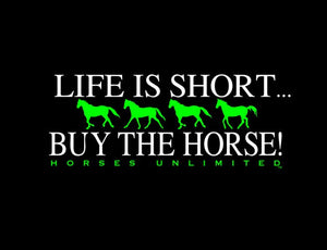 "(MBUH7622) ""Buy Horse"" Western Horses Unlimited T-Shirt"