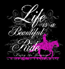 "Load image into Gallery viewer, (MBUH7624) ""Beautiful Ride"" Horses Unlimited T-Shirt"