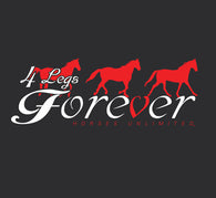 "(MBUH7627) ""4 Legs Forever"" Horses Unlimited Adult T-Shirt"