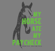 "(MBUH7636) ""Paycheck"" Horses Unlimited Adult T-Shirt"