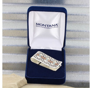 Two Tone Southwestern Unending Trails Money Clip