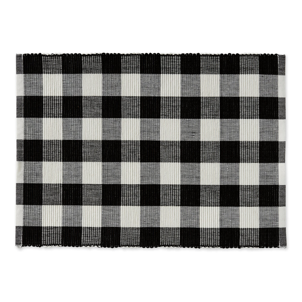 Farmhouse Buffalo Check Placemat - Black & White