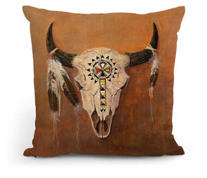 "Big Medicine – Skull 18"" Decorative Pillow"