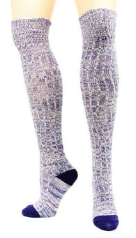 (MFA1001255027) Ladies' Over The Knee Socks Marbled Blue