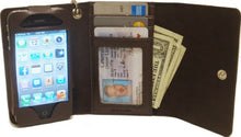 Load image into Gallery viewer, (MFW0614808) Western iPhone 4 Case/Wallet with Red Heart & Blue Wing